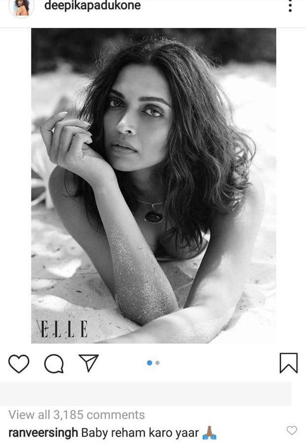 Deepika Padukone's HOT monokini look for a magazine makes Ranveer Singh beg for mercy!