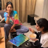Janhvi Kapoor spends time painting during self-quarantine, Khushi Kapoor gets her face painted