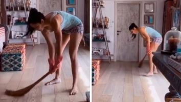 Katrina Kaif picks a broom to clean the house as Isabelle Kaif does commentary, Arjun Kapoor calls her Kaantaben 2.0 again