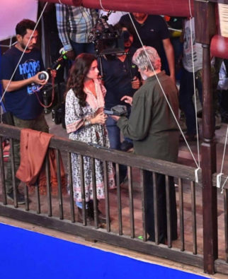 LEAKED PHOTO of Alia Bhatt and Amitabh Bachchan engrossed in a scene during Brahmastra shooting goes viral