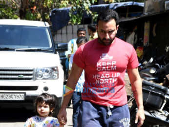 Photos: Saif Ali Khan and Taimur Ali Khan snapped at a dance class