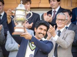 Ranveer Singh gives a glimpse of the iconic '83 world cup lifting moment!