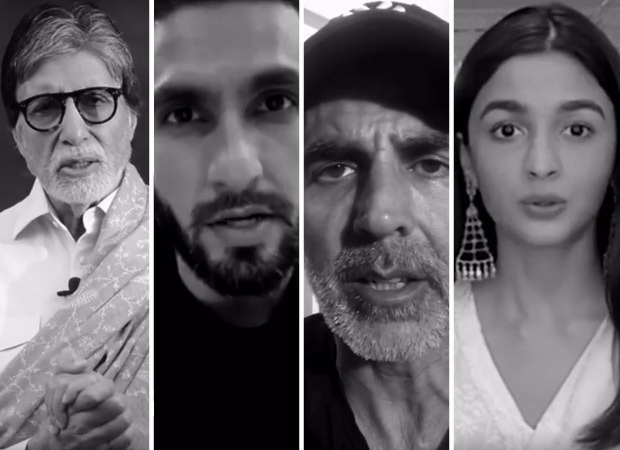 Watch: Amitabh Bachchan, Ranveer Singh, Akshay Kumar, Alia Bhatt among others share powerful message amid Coronavirus pandemic