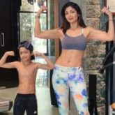 Shilpa Shetty has got a competition in her son when it comes to fitness; check out their pics