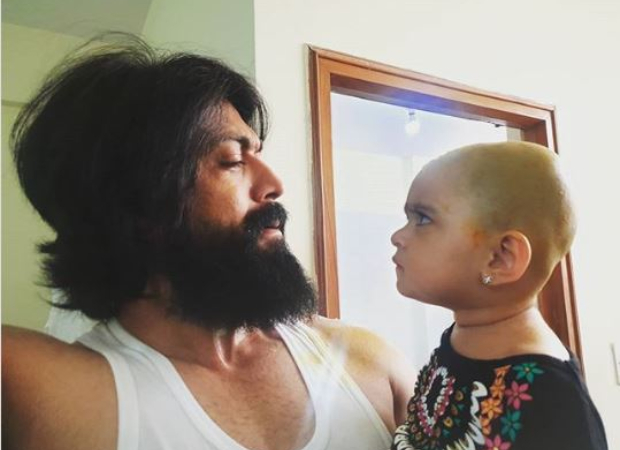 KGF actor Yash shares a picture of his daughter questioning his haircut