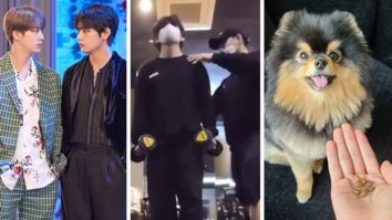 BTS member V indulges in some workout and spending time with his doggo Yeontan, Jin enjoys playing games