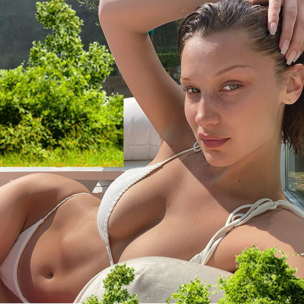Bikini clad supermodels Bella Hadid and Alessandra Ambrosio soak in the sun amid self-quarantine period