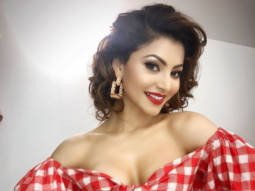 Urvashi Rautela looks HOT in a gingham off-shoulder co-ord with plunging neckline