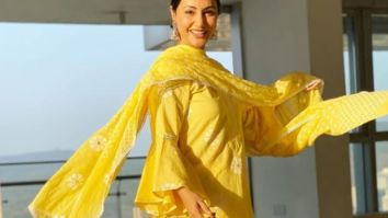 Hina Khan shines bright in a yellow traditional outfit as she wishes her fans Ramadan Kareem