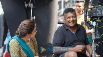 On the set of the movie Mumbai Saga
