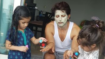 Karanvir Bohra enjoys a pampering session at home, courtesy his daughters