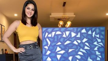 Sunny Leone presents to us her 'lockdown art' made over 40 days