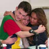 13 Reasons Why cast Dylan Minnette, Brandon Flynn, Alisha Boe left in tears in BTS footage from table read of final season