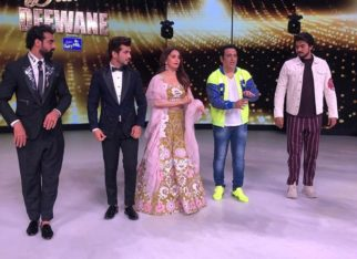 Arjun Bijlani shares a picture from Dance Deewane when they learned dance steps from Govinda and Madhuri Dixit