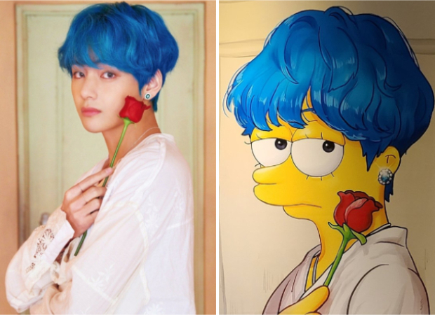 BTS' V shares cute The Simpsons inspired paintings that he received from ARMY