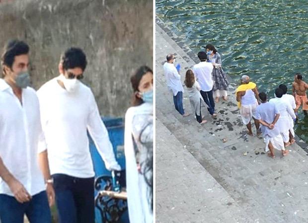 Ranbir Kapoor, Neetu Kapoor, Alia Bhatt bid adieu to Rishi Kapoor as they immerse his ashes