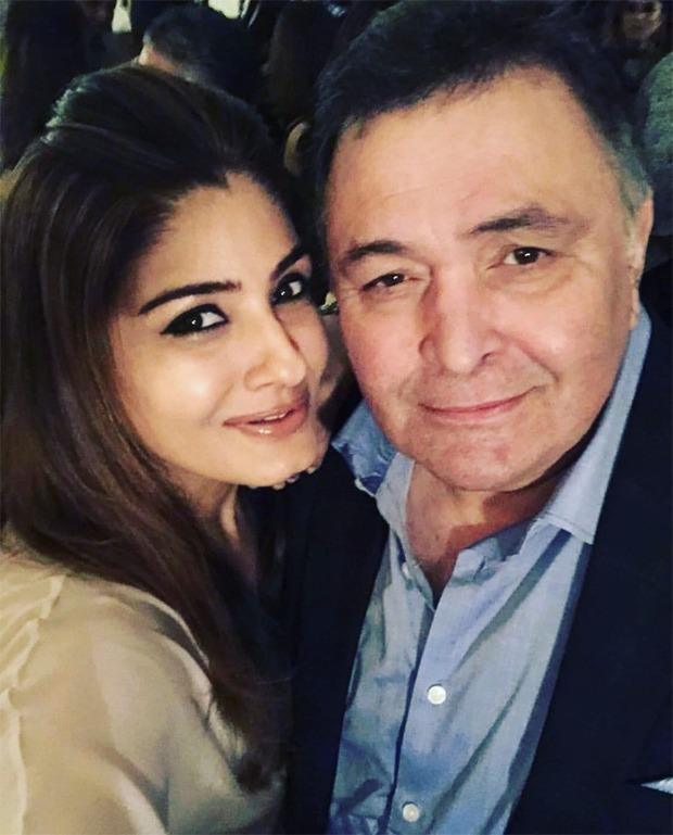 Raveena Tandon misses Rishi Kapoor, shares a video he recorded for her father's 80th birthday