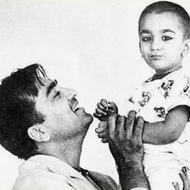 "Sanjay Dutt shares a childhood photo on death anniversary of Sunil Dutt, says ""miss you today and everyday dad"""