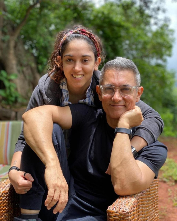 Aamir Khan shows off his quarantine greys in Ira Khan's Father's Day post