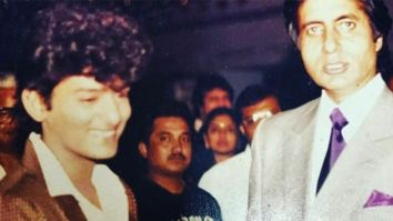 An old picture of Wajid Khan enjoying his fan-boy moment with Amitabh Bachchan goes viral