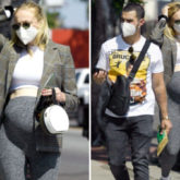 Pregnant Sophie Turner shows off her growing baby bump as she steps out with Joe Jonas in Los Angeles