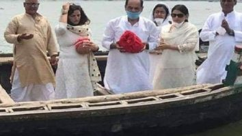 Sushant Singh Rajput's family immerses his ashes in the Ganges