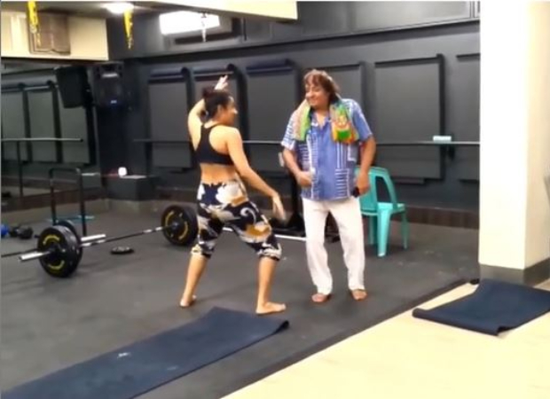 Watch: Veteran actor Ranjeet tries to match up with his daughter as they dance to Mehbooba