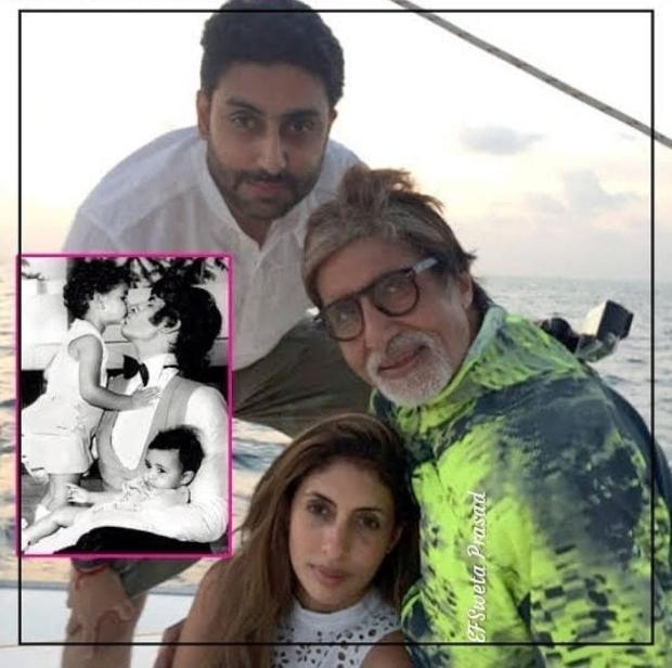 Amitabh Bachchan goes down memory lane to share photo with Abhishek and Shweta Bachchan