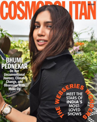 Bhumi Pednekar on the cover of Cosmopolitan, July 2020
