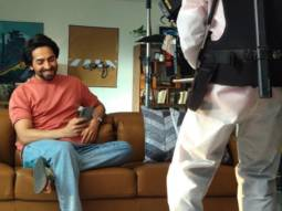 """It was great to shoot again after so many months"" - says Ayushmann Khurrana who is back on set to shoot an ad"