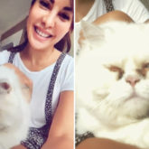 Jacqueline Fernandez shares selfies with her cat after calming meditation session