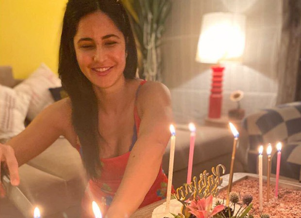 Katrina Kaif is all smiles as she poses candidly with her birthday cakes