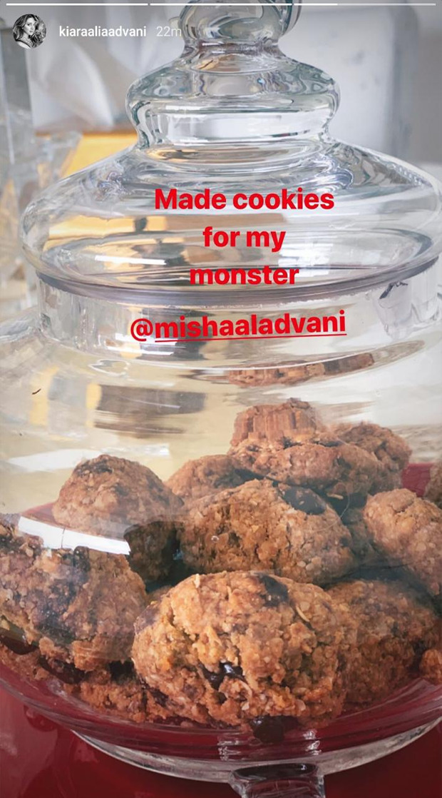 Kiara Advani receives a lovely note from her brother Mishaal for bakingappetizing cookies