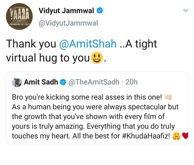 Tale of two Amits: Vidyut Jammwal accidentally sends virtual hugs to Amit Shah instead of Amit Sadh