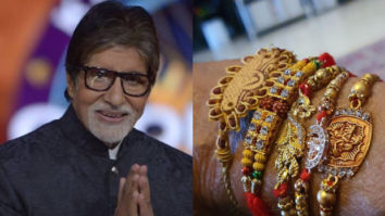 Amitabh Bachchan shares a picture of his rakhi-clad wrist with an important message