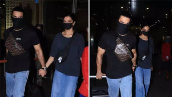 Deepika Padukone and Ranveer Singh match airport looks as they return from Bangalore