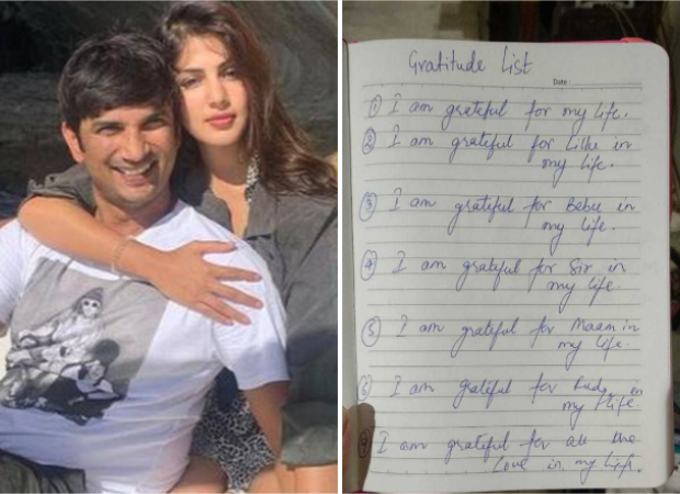 Rhea Chakraborty shares Sushant Singh Rajput's gratitude list, says that is the only property of his she possesses