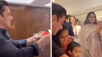Salman Khan helps nephew during Ganesh aarti, attends Ganpati visarjan