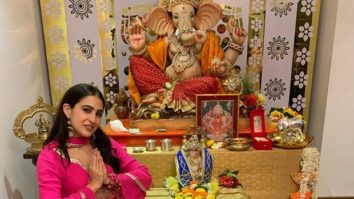 Sara Ali Khan takes blessings of Lord Ganesha, posts pictures in a traditional attire