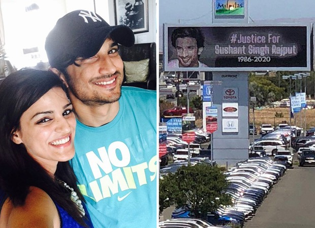 Shweta Singh Kirti shares picture and video of a hoarding in California for Sushant Singh Rajput, calls it a worldwide movement