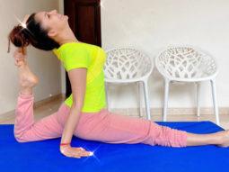 Urvashi Rautela nails the super-advanced yoga front splits