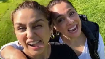 Huma Qureshi and Lara Dutta get goofy on the sets of Bell Bottom; watch