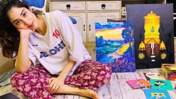 Janhvi Kapoor utilises her time 'trying to be a painter'; shares her work