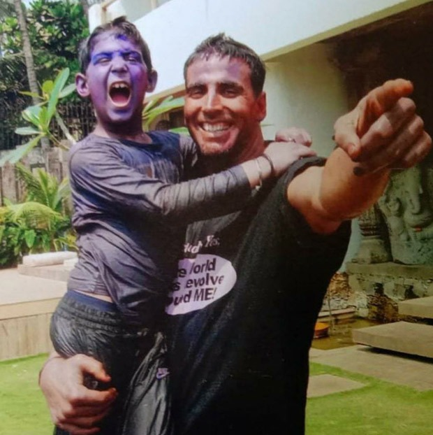 Akshay Kumar shares a throwback picture on son Aarav's 18th birthday