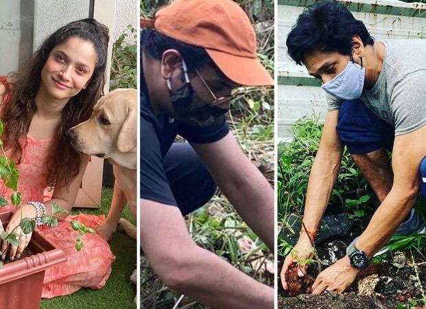 Ankita Lokhande, Mukesh Chhabra, Mahesh Shetty plant saplings under the #PlantForSSR movement for Sushant Singh Rajput