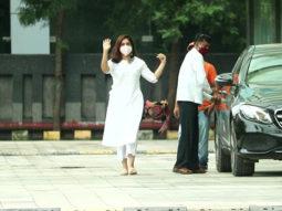 Bhumi Pednekar spotted at Dharma office in Andheri
