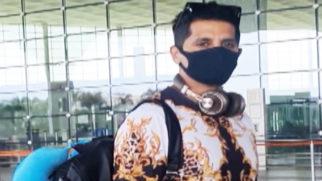 Karanvir Bohra spotted at the airport