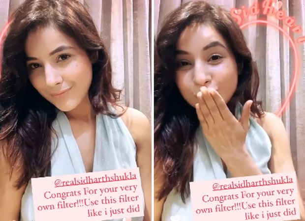 Shehnaaz Gill tries out Sidharth Shukla's filter on Instagram, SidNaaz fans can't keep calm
