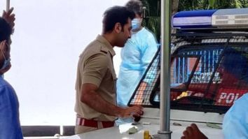 Ranbir Kapoor spotted shooting dressed in a police uniform; see pics