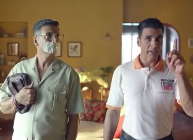 Akshay Kumar's plays a double role in his latest ad which was shot before he left for UK
